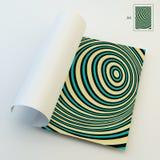 A4 επιχειρησιακό κενό abstract background striped τέχνη οπτική Στοκ Εικόνες