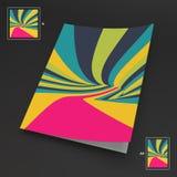 A4 επιχειρησιακό κενό abstract background striped τέχνη οπτική Στοκ Φωτογραφία