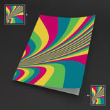 A4 επιχειρησιακό κενό abstract background striped τέχνη οπτική Στοκ Εικόνα