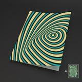A4 επιχειρησιακό κενό abstract background striped διανυσματική απεικόνιση