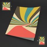 A4 επιχειρησιακό κενό abstract background striped Στοκ Φωτογραφίες