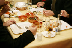 επιχειρησιακό μεσημεριανό γεύμα Στοκ Φωτογραφίες