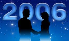 επιχειρησιακό νέο έτος του 2006 ελεύθερη απεικόνιση δικαιώματος