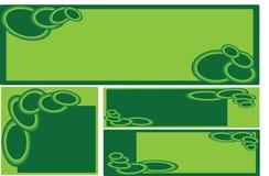 επιχειρησιακό πράσινο σύνολο εμβλημάτων Στοκ Φωτογραφία