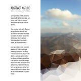 Επιχειρησιακό πρότυπο για το φυλλάδιο, το περιοδικό, το ιπτάμενο, το βιβλιάριο ή τη ετήσια έκθεση Αφηρημένο ζωηρόχρωμο polygonal  Στοκ φωτογραφία με δικαίωμα ελεύθερης χρήσης