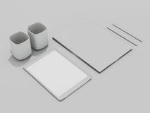 Επιχειρησιακό πρότυπο προτύπων Σύνολο στοιχείων στον άσπρο πίνακα Στοκ Φωτογραφίες