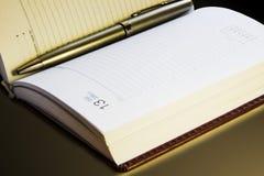 Επιχειρησιακό σημειωματάριο για τα αρχεία Στοκ εικόνα με δικαίωμα ελεύθερης χρήσης