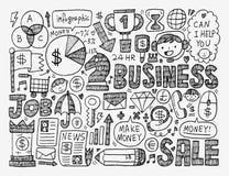 Επιχειρησιακό στοιχείο Doodle Στοκ Εικόνες