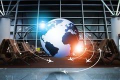 Επιχειρησιακό υπόβαθρο έννοιας αεροπορίας Στοκ Εικόνες