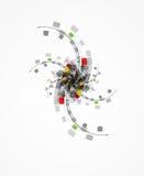 Επιχειρησιακό υπόβαθρο έννοιας τεχνολογίας εγκαταστάσεων υπολογιστών Στοκ εικόνα με δικαίωμα ελεύθερης χρήσης