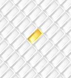 Επιχειρησιακό υπόβαθρο γκρίζο με τα χρυσά πλινθώματα Στοκ φωτογραφία με δικαίωμα ελεύθερης χρήσης