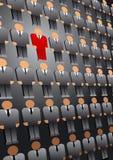 Επιχειρησιακό υπόβαθρο ηγετών ανθρώπων επιλογής αναζήτησης διανυσματική απεικόνιση