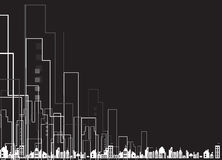 Επιχειρησιακό υπόβαθρο καθρεφτών κυκλωμάτων πόλεων ακίνητων περιουσιών Στοκ φωτογραφία με δικαίωμα ελεύθερης χρήσης