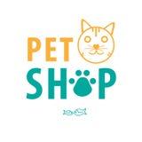 Επιχειρησιακό υπόβαθρο καταστημάτων της Pet για τις γάτες Στοκ Φωτογραφίες