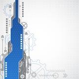 Επιχειρησιακό υπόβαθρο νέας τεχνολογίας, διανυσματική απεικόνιση Στοκ εικόνα με δικαίωμα ελεύθερης χρήσης
