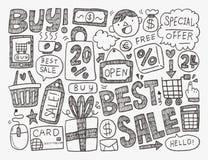 Επιχειρησιακό υπόβαθρο Doodle Στοκ Φωτογραφία