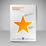 Επιχειρησιακό φυλλάδιο Αφίσα Editable A4 για την κάλυψη σχεδίου του magazi Στοκ Εικόνα
