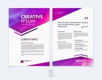 Επιχειρησιακό φυλλάδιο, ιπτάμενο και πρότυπο σχεδιαγράμματος σχεδίου κάλυψης με το ρ Στοκ εικόνα με δικαίωμα ελεύθερης χρήσης