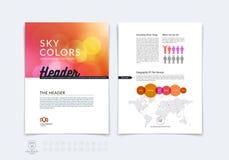 Επιχειρησιακό φυλλάδιο, ιπτάμενο και πρότυπο σχεδιαγράμματος σχεδίου κάλυψης με το β Στοκ εικόνα με δικαίωμα ελεύθερης χρήσης