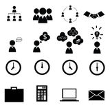 επιχειρησιακό cs2 eps AI τα εικονίδια περιλαμβάνουν Στοκ Εικόνες