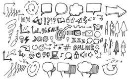 Επιχειρησιακό doodles σκίτσο eps10 Στοκ εικόνες με δικαίωμα ελεύθερης χρήσης