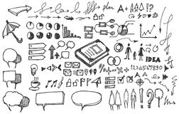 Επιχειρησιακό doodles σκίτσο eps10 Στοκ Εικόνες