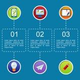 Επιχειρησιακό infographic επίπεδο σχέδιο Στοκ Εικόνα