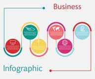 Επιχειρησιακό infographic πρότυπο παρουσίασης με 6 επιλογές Η διανυσματική απεικόνιση μπορεί να χρησιμοποιηθεί για το σχεδιάγραμμ απεικόνιση αποθεμάτων