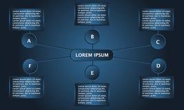 Επιχειρησιακό infographic πρότυπο απεικόνιση αποθεμάτων