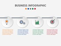 Επιχειρησιακό infographic πρότυπο ελεύθερη απεικόνιση δικαιώματος