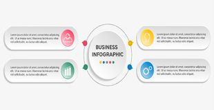 Επιχειρησιακό infographic πρότυπο στοκ φωτογραφίες με δικαίωμα ελεύθερης χρήσης