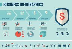 Επιχειρησιακό infographic πρότυπο Στοκ Εικόνες