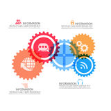 Επιχειρησιακό infographic σχεδιάγραμμα Στοκ Φωτογραφίες