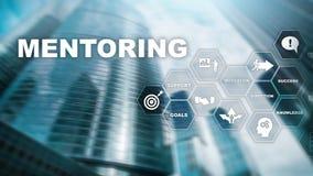 Επιχειρησιακό Mentoring Προσωπική προγύμναση Έννοια ανάπτυξης κατάρτισης προσωπική Μικτά μέσα στοκ εικόνες