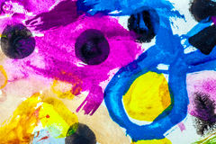 Επιχρίσματα χρωμάτων Στοκ Φωτογραφίες