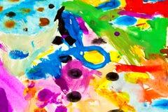 Επιχρίσματα χρωμάτων Στοκ φωτογραφίες με δικαίωμα ελεύθερης χρήσης