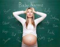 Επιλέγοντας το σωστό όνομα για σας μωρό στοκ εικόνα με δικαίωμα ελεύθερης χρήσης