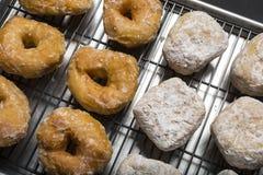Επιλέξτε βερνικωμένο ή doughnut ζελατίνας σε ένα ράφι Στοκ φωτογραφίες με δικαίωμα ελεύθερης χρήσης