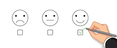 Επιλέξτε τη συγκίνηση ευτυχή διανυσματική απεικόνιση