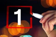 Επιλέξτε τον αριθμό ένα, επιχειρησιακή έννοια Στοκ Εικόνες