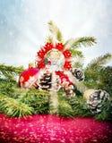 Επιλεγμένη εστίαση σε λίγο άγγελο στο αστέρι Στοκ φωτογραφία με δικαίωμα ελεύθερης χρήσης