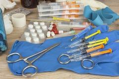 Επιδημία γρίπης Εμβολιασμός ενάντια στην επιδημία γρίπης Στοκ Εικόνες
