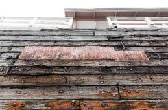 Επιδιορθωμένη πλευρά μιας παλαιάς βάρκας Στοκ εικόνες με δικαίωμα ελεύθερης χρήσης