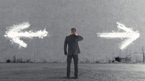 Επιλογές ενός επιχειρηματία Στοκ Φωτογραφίες