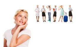 Επιλογές επιλογής σταδιοδρομίας - σπουδαστής που σκέφτεται για στοκ εικόνες