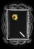 Επιλογές εστιατορίων στον πίνακα κιμωλίας στοκ εικόνες