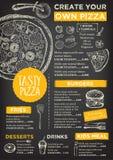 Επιλογές καφέδων εστιατορίων, σχέδιο προτύπων ελεύθερη απεικόνιση δικαιώματος