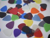 Επιλογές κιθάρων διεσπαρμένες Στοκ εικόνα με δικαίωμα ελεύθερης χρήσης