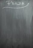 Επιλογές πιτσών πινάκων κιμωλίας Στοκ Εικόνα