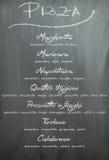 Επιλογές πιτσών πινάκων κιμωλίας Στοκ Φωτογραφία